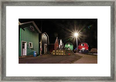 Framed Print featuring the photograph The Harbour At French River, Pei. by Rob Huntley