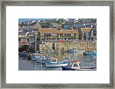The Harbour Inn Porthleven Framed Print
