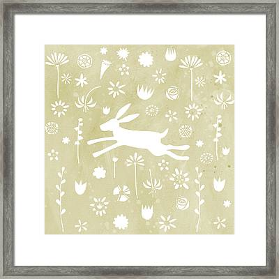 The Hare In The Meadow Framed Print by Nic Squirrell