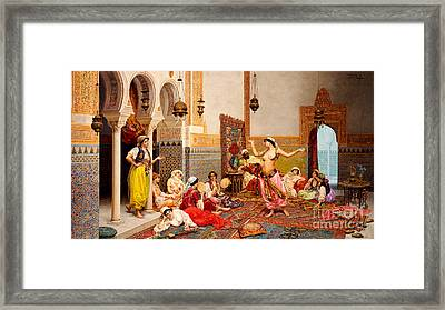 The Harem Dance Framed Print by Giulio Rosati