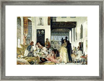 The Harem Framed Print by John Frederick Lewis