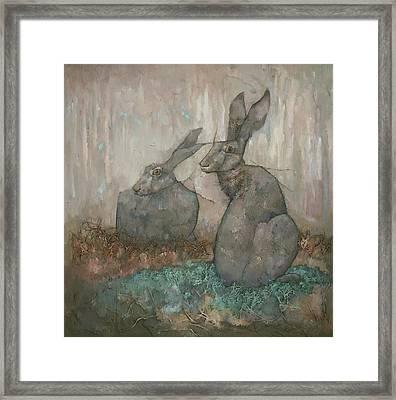 The Hare's Den Framed Print