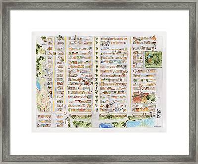 The Harlem Map Framed Print
