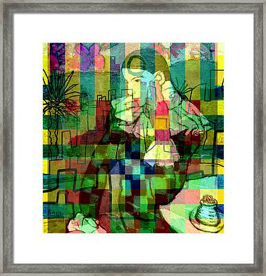 The Harlequin's Dream ...after Picasso  Framed Print by Paul Sutcliffe