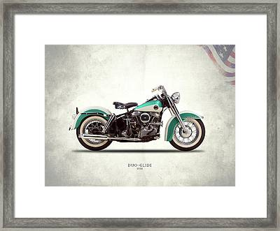 The Harley Duo-glide 1958 Framed Print by Mark Rogan
