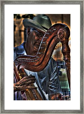 The Harp Player Framed Print by David Patterson