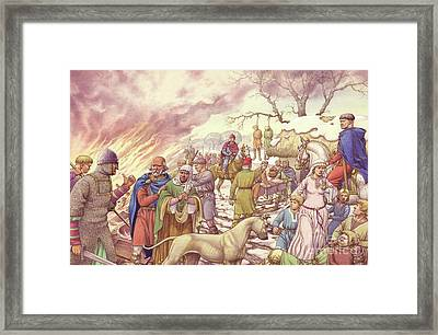 The Harrying Of The North Framed Print by Pat Nicolle