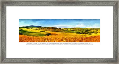 The Harvest Is Plentiful Framed Print by Dale Jackson