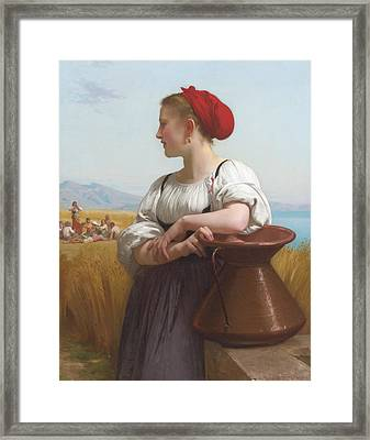 The Harvester Framed Print by William-Adolphe Bouguereau