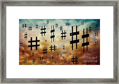 The Hashtag Storm Framed Print by Andee Design
