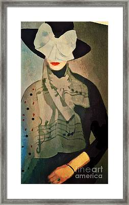 Framed Print featuring the digital art The Hat by Alexis Rotella