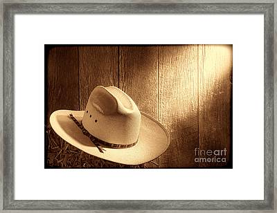 The Hat Framed Print