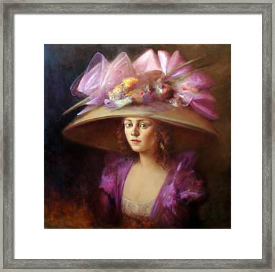 The Hat Framed Print by Loretta Fasan