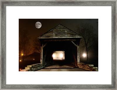 The Haunted Bridge Framed Print
