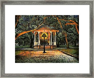 The Haunted Gazebo Framed Print