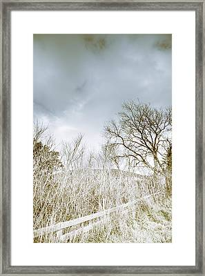 The Haunting Cold Framed Print by Jorgo Photography - Wall Art Gallery