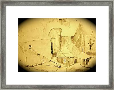 The Hay Loft Framed Print
