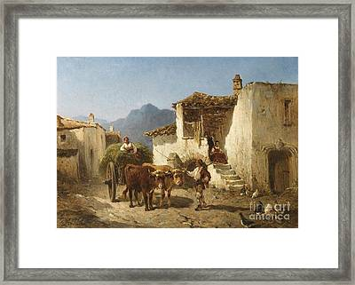 The Hay Wain Framed Print by Celestial Images