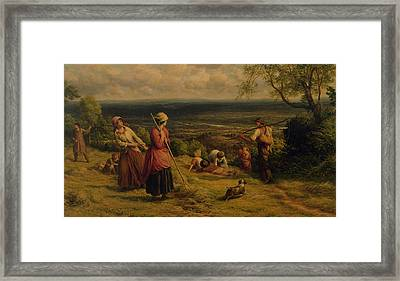 The Haymakers Framed Print by James Thomas Linnell