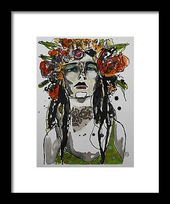 India Ink Framed Prints