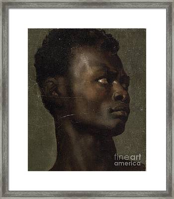 The Head Of An African Framed Print