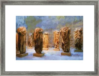 The Headless Romans Framed Print by Michael Greenaway