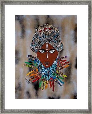 The Healer Framed Print by Carla J Lawson
