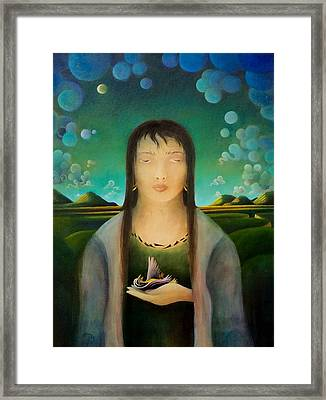 Framed Print featuring the painting The Healer by Richard Dennis