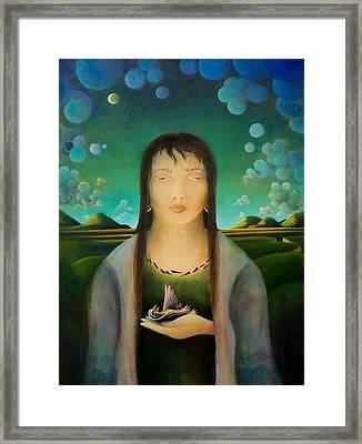 The Healer Framed Print by Richard Dennis