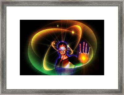 Framed Print featuring the digital art The Healer by Shadowlea Is