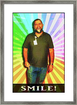 Framed Print featuring the mixed media The Healing Smile Mosaic by Shawn Dall