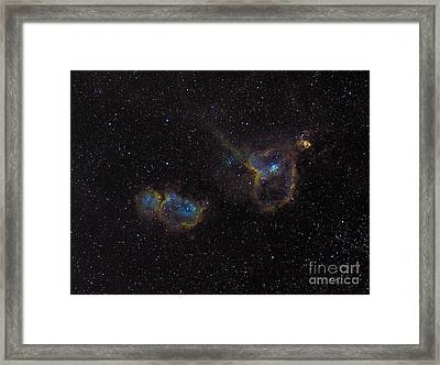 The Heart And Soul Nebulae Framed Print