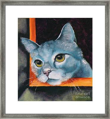 The Heart Is A Lonely Hunter Framed Print by Susan A Becker