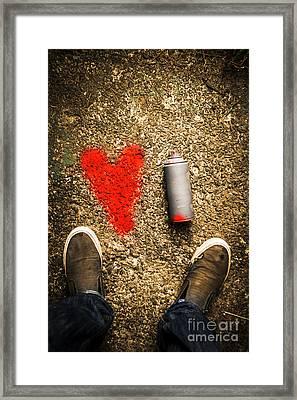 The Heart Of A Vandal Framed Print