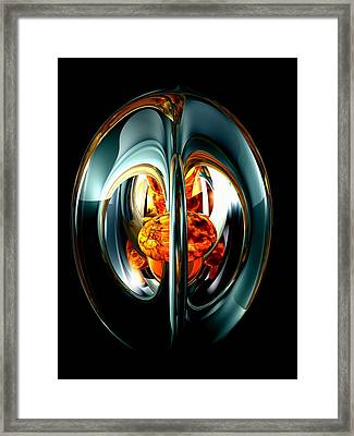 The Heart Of Chaos Abstract Framed Print by Alexander Butler