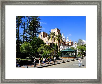 The Heart Of Cuenca Framed Print by Al Bourassa