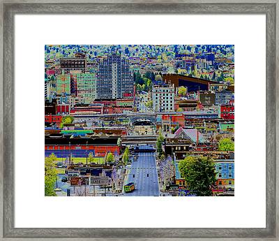 Framed Print featuring the photograph The Heart Of Downtown Spokane  by Ben Upham III