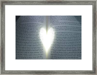 The Heart Of Literature Framed Print by Delaney Sherman
