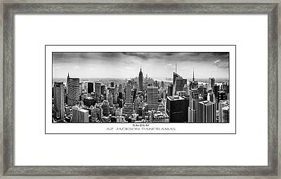 The Heart Of New York Poster Print Framed Print by Az Jackson