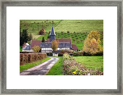 The Heart Of Normandy Framed Print by Olivier Le Queinec