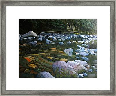 The Heart Of Quartz Creek Framed Print by Ron Smothers