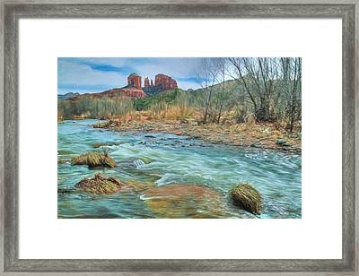 The Heart Of Sedona Framed Print by Donna Kennedy