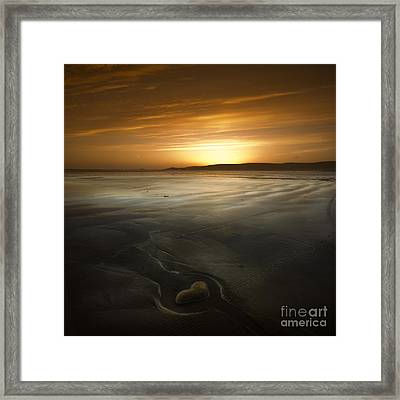 The Heart Of Stone Framed Print by Angel Ciesniarska