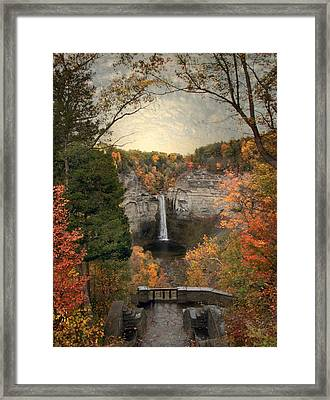 The Heart Of Taughannock Framed Print by Jessica Jenney