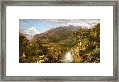 The Heart Of The Andes Framed Print by Fredrick Edwin Church