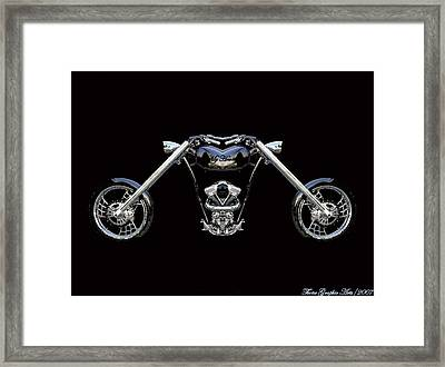 The Heart Of The Harley Framed Print by Wayne Bonney