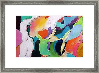 Framed Print featuring the painting The Heart Of The Matter by Bernard Goodman