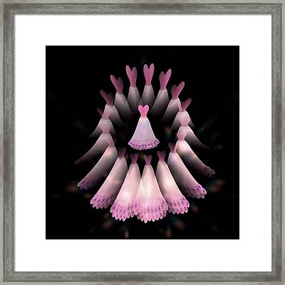 The Heart Of The Women Circle -  Pink Framed Print by Jacqueline Migell