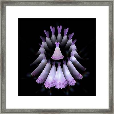 The Heart Of The Women Circle - Purple Framed Print by Jacqueline Migell