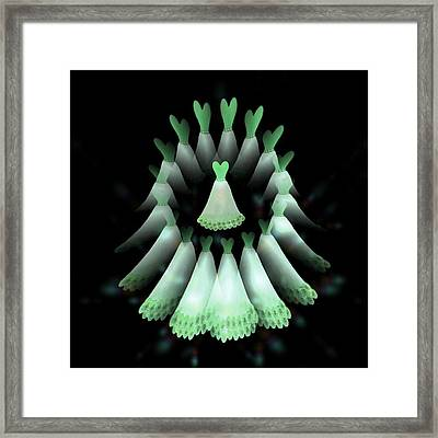 The Heart Of The Women Circle  Framed Print by Jacqueline Migell